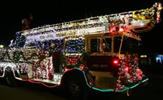 santa truck fire-department