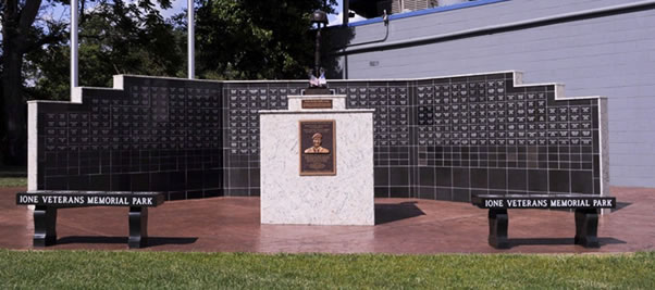veterans memorial park wall