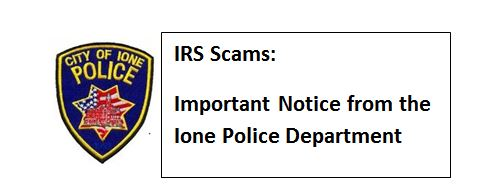 important notice PD IRS scam